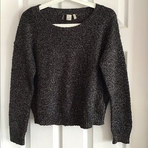 H&M Knit sweater with silver speckles
